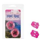 Island Rings Double Stacker Pink