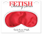 Fetish Fantasy Series Satin Love Mask Red